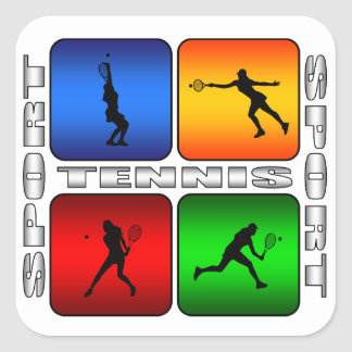 Spectacular Tennis (Female) Square Sticker