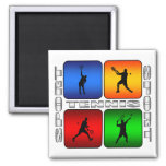 Spectacular Tennis (Male) 2 Inch Square Magnet