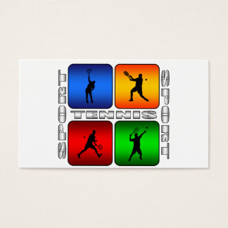 Spectacular Tennis (Male) Business Card