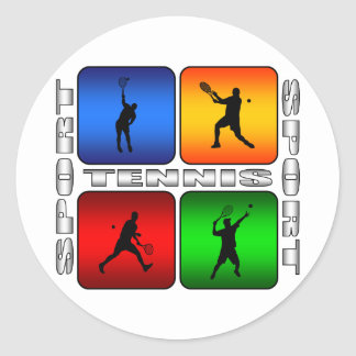 Spectacular Tennis (Male) Classic Round Sticker
