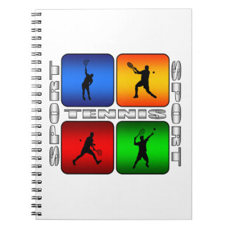 Spectacular Tennis (Male) Spiral Notebooks