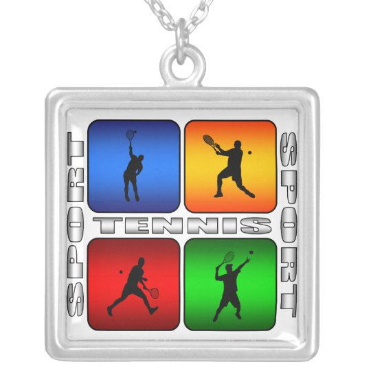Spectacular Tennis (Male) Silver Plated Necklace