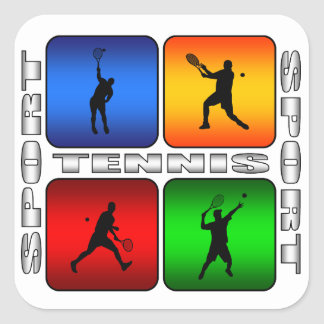 Spectacular Tennis (Male) Square Sticker