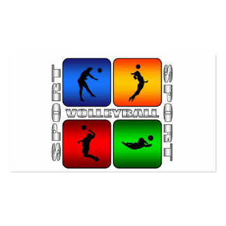 Spectacular Volleyball Double-Sided Standard Business Cards (Pack Of 100)