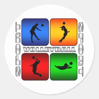Spectacular Volleyball Classic Round Sticker