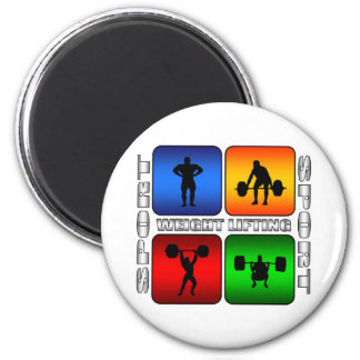 Spectacular Weight Lifting 2 Inch Round Magnet