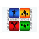 """Spectacular Weight Lifting 5"""" X 7"""" Invitation Card"""