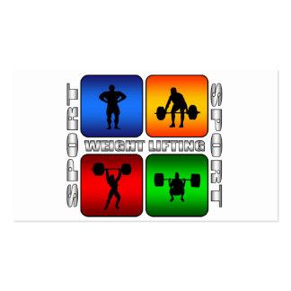Spectacular Weight Lifting Business Card