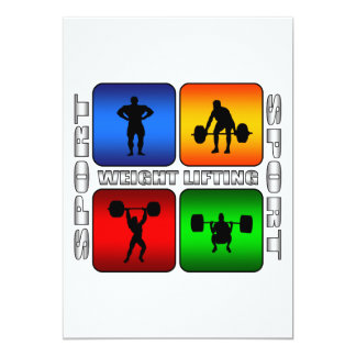 Spectacular Weight Lifting Card