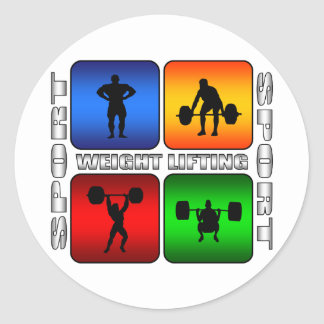 Spectacular Weight Lifting Classic Round Sticker