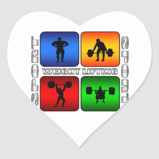 Spectacular Weight Lifting Heart Sticker