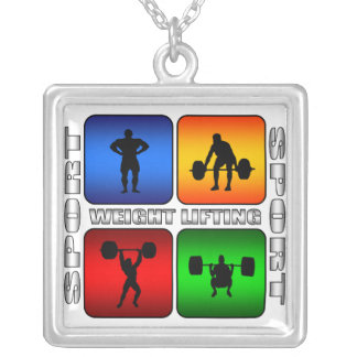 Spectacular Weight Lifting Silver Plated Necklace