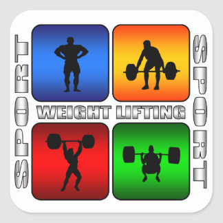 Spectacular Weight Lifting Square Sticker