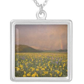Spectacular wildflower meadow at sunrise in custom jewelry