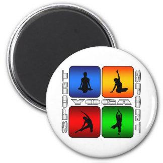 Spectacular Yoga 2 Inch Round Magnet