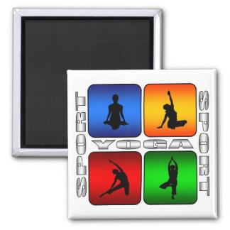 Spectacular Yoga 2 Inch Square Magnet