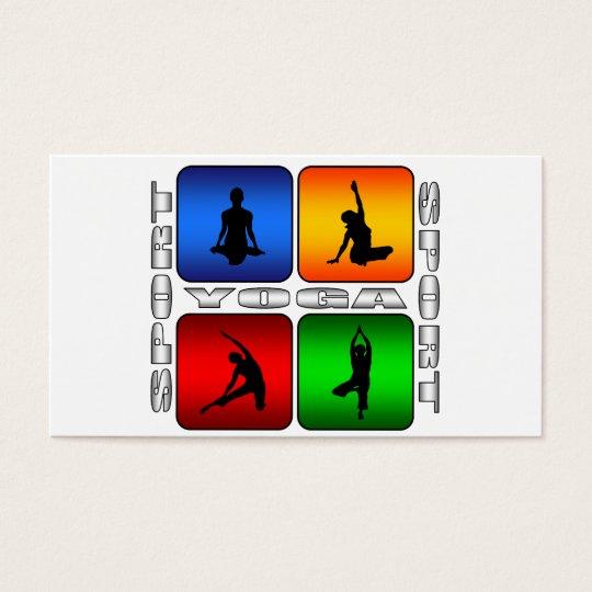 Spectacular Yoga Business Card