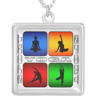 Spectacular Yoga Silver Plated Necklace