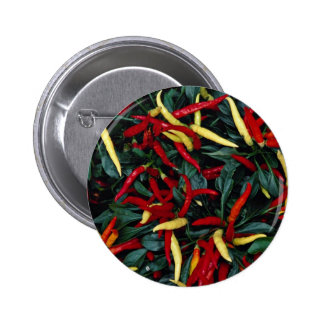 Spectacularly colored Ornamental pepper 2 Inch Round Button