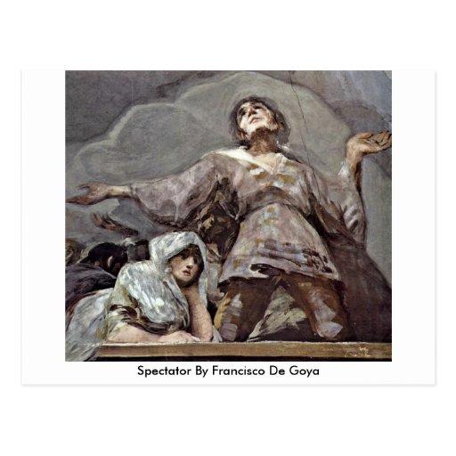 Spectator By Francisco De Goya Post Card