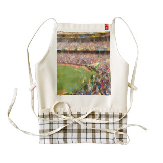 Spectators at cricket match zazzle HEART apron
