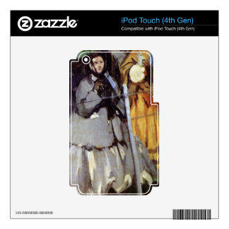 Spectators at the races by Edouard Manet Decal For iPod Touch 4G