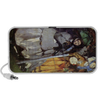 Spectators at the races by Edouard Manet Mini Speaker