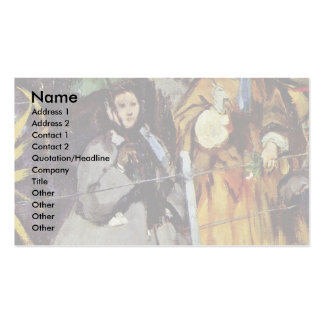 Spectators At The Races By Manet Edouard Business Card Template