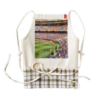 Spectators in a stadium zazzle HEART apron