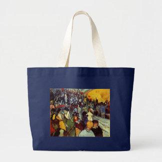 Spectators in Arena at Arles Van Gogh Fine Art Large Tote Bag