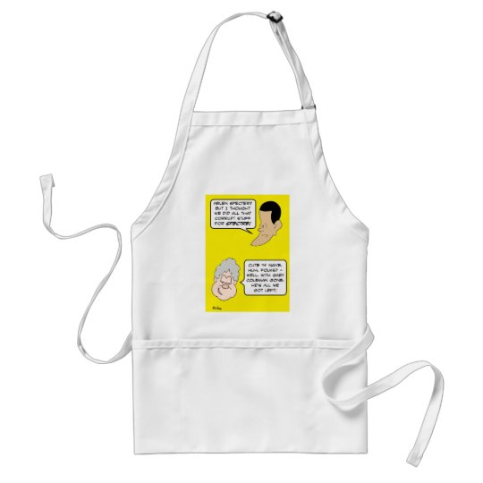 specter clinton obama coleman adult apron