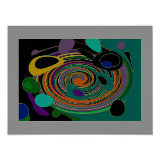 SPECTRA MARBLE Abstract Poster