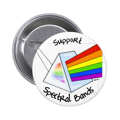 Spectral Bands Pinback Buttons