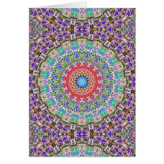 Spectral Concentric Pattern Card