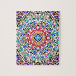 Spectral Concentric Pattern Jigsaw Puzzle