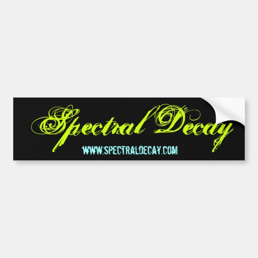 Spectral Decay Basic Bumper Stickers