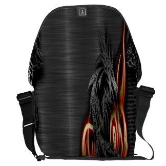Spectral Dragon Large Messenger Bag Outside Print