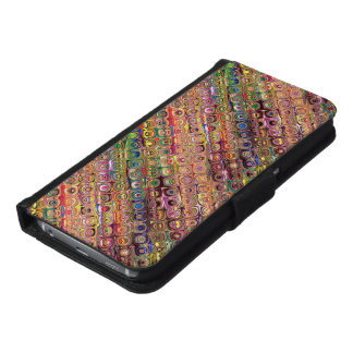 Spectral Glass Beads Wallet Phone Case For Samsung Galaxy S6