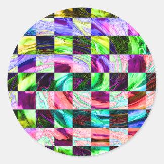 Spectral Glass Classic Round Sticker