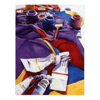 """""""Spectral Hierarchy"""" Artists Studio Watercolor Postcard"""