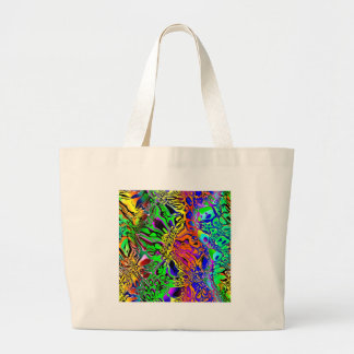 Spectral Shapes Abstract Large Tote Bag
