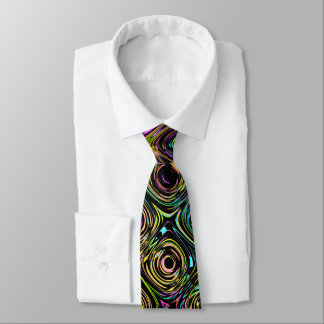 Spectral Shapes Pattern Neck Tie