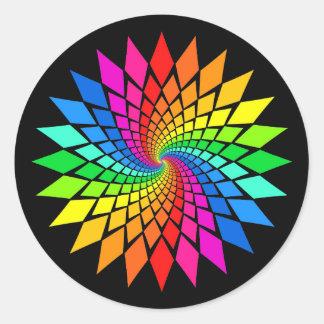 'Spectral Spiral' Classic Round Sticker