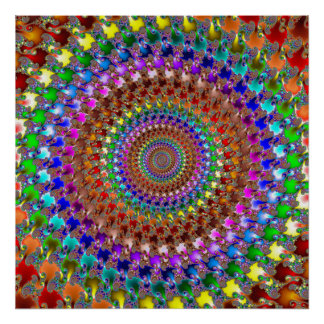 'Spectral Spiral' Print