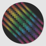 Spectral Squares Classic Round Sticker