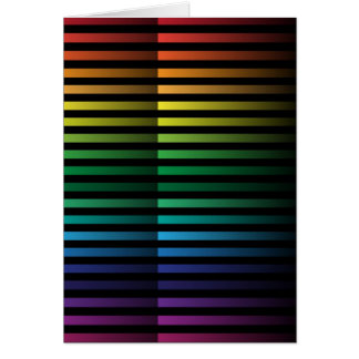 Spectral Strips Greeting Cards