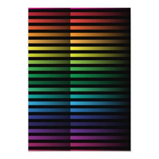 "Spectral Strips 5"" X 7"" Invitation Card"