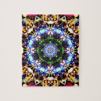 Spectral Symmetry Abstract Jigsaw Puzzle