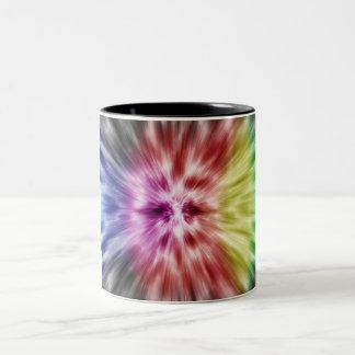 Spectral Tie Dye Two-Tone Coffee Mug