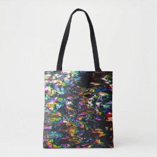Spectral Triangles Glitch Tote Bag